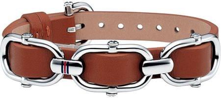 Tommy Hilfiger Hnedý kožený náramok TH2700556