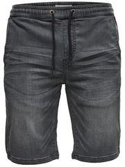 ONLY&SONS Pánské kraťasy Linus Jog Shorts Grey Pk 9063 Grey Denim