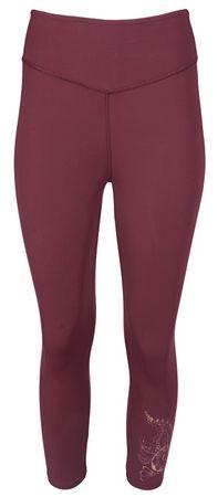 Deha Női leggingsYoga Capri B84528 Red Mahogany (méret S)