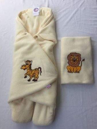 Emitex otroška vrečka ZOE + odeja, svetlo rumena