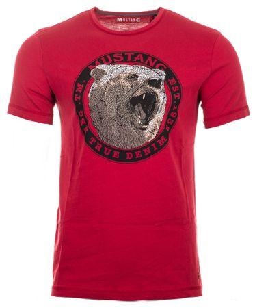 Mustang T-shirt męski, XL, czerwony