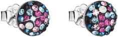 Evolution Group Bež uhani s kristali Galaxy 31136.4 srebro 925/1000