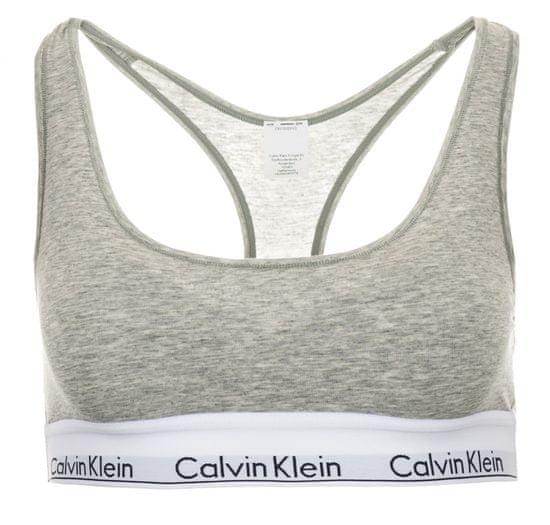 Calvin Klein dámská podprsenka S šedá