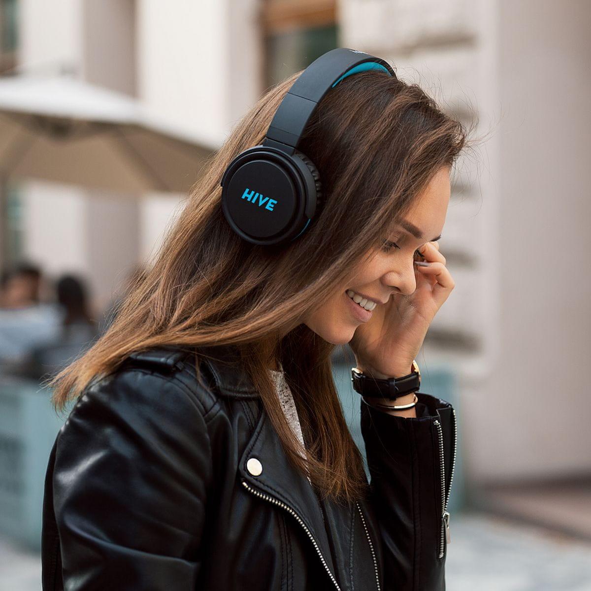 Sluchátka Niceboy HIVE XL izolace od okolí měkké náušníky audiokabel