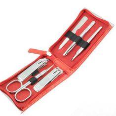 Three Seven Manikúrny set Red - 6 nástrojov