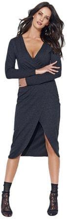 Numinou dámské šaty 38 tmavě šedá
