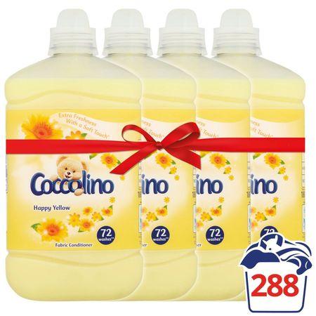 Coccolino mehčalec za perilo Happy Yellow, 4 x 1,8 l
