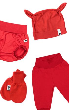 Lamama komplet za dojenčad, crveni, 56