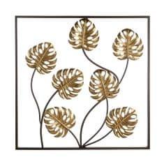Papillon Nástěnná kovová dekorace Exotic Leaf, 60 cm