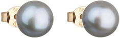 Evolution Group Arany fülbevaló valódi gyöngyökkel Pavona 921042.3 szürke sárga arany 585/1000