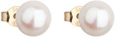 Evolution Group Arany fülbevaló valódi gyöngyből Pavona 921042.1 sárga arany 585/1000
