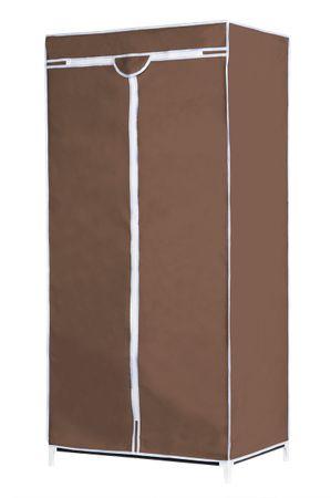 TimeLife Textil/fém ruhatároló barna