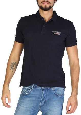 Napapijri moška polo majica, M, temno modra