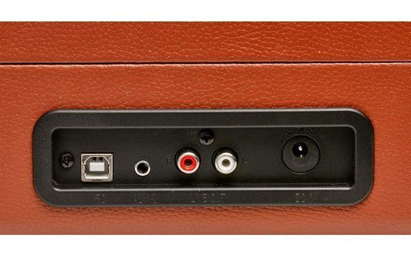 Denver VPL-120 lemezjátszó beépített hangszóróval, 33, 45 és 78 fordulatszámmal és USB-n keresztüli digitalizálással