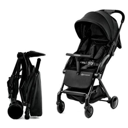 KinderKraft otroški voziček PILOT Black, črn