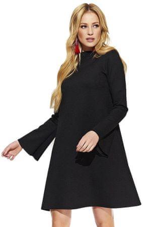 Makadamia dámské šaty 40 čierna