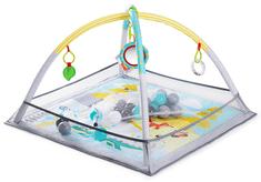 KinderKraft podloga za igranje s uzorkom životinja u šumi MILYPLAY