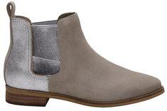 Toms Női Cream Boots Taupe Suede / Slvr Mtl Lthr Ella