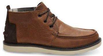 Toms Férfi barna cipő WP Pull Brown Leather Chukka (méret 44)