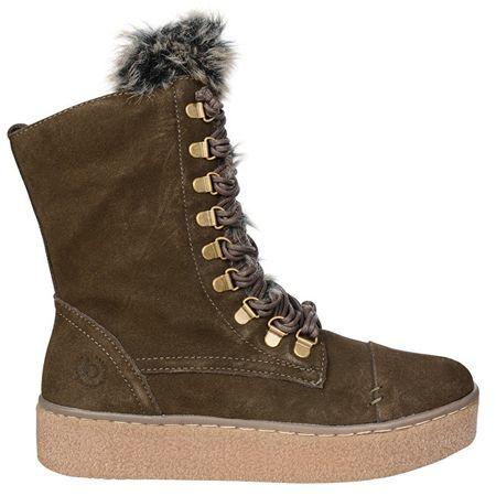 61f212559f8c5 Dámske zimné kotníkové topánky Frini Evo 421288321459-7152 Dark Green/Beige  (Veľkosť 37 ...