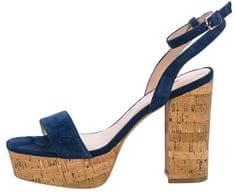 Fornarina Damskie buty Mina Navy Kid Suede sandała Wo`s