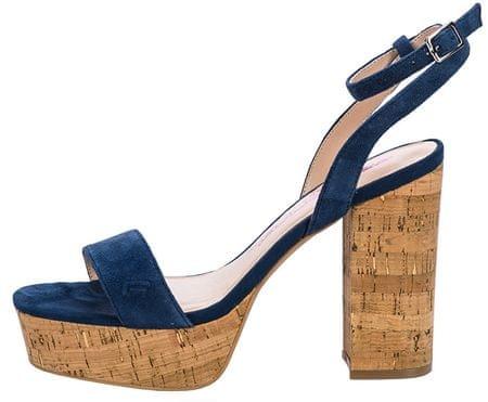 77c761eca851 Fornarina Dámska obuv Mina Navy Kid Suede Wo`s Sandal (Veľkosť 37 ...
