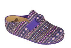 Scholl Dámské pantofle Lareth Bioprint Purple/Multi F272821280