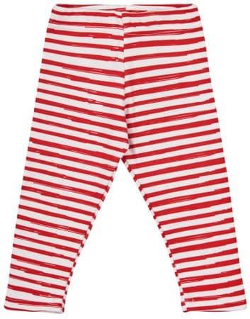 Garnamama dívčí legíny Christmas 80 biela/červená