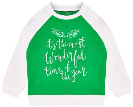 Garnamama Gyerek pulóver Christmas 98 zöld