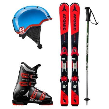 Atomic Půjčení lyžařského setu (lyže 100 cm, boty 17.5, hůlky 80 cm, helma, vak)