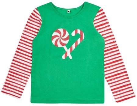 Garnamama otroška majica Christmas, 80, zelena