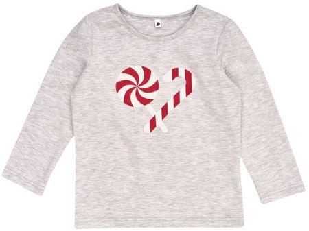 Garnamama otroška majica Christmas, 80, siva