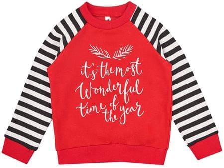 Garnamama bluza dziecięca Christmas, 98, czarna/czerwona