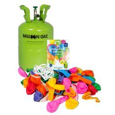 HELIUM DO BALÓNKŮ BALOONGAZ - jednorázová nádoba 250 l + 30 latexových balónků