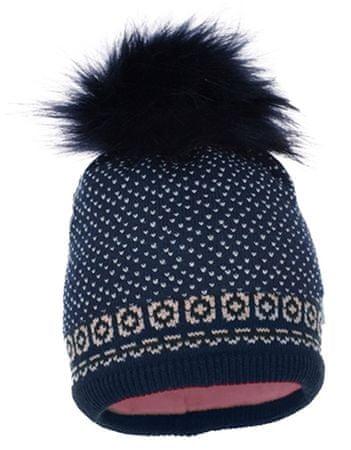 Pupill dekliška kapa Astrid, 50 - 52, roza/modra