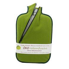 Hugo Frosch Termofor Eco Classic Comfort se softshellovým obalem na zip – zelený