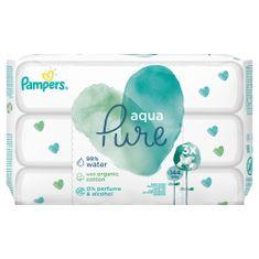 Pampers 3x Aqua Pure nedves törlőkendő - 48 db