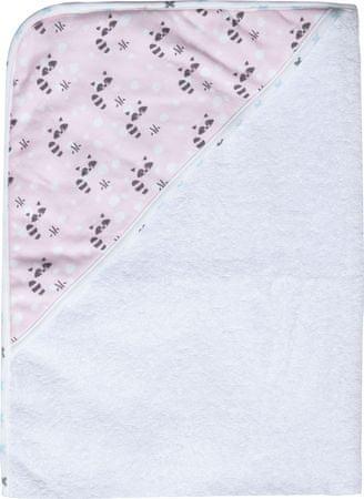 Luma Gyerek frottír törölköző kapucnival - Racoon Pink