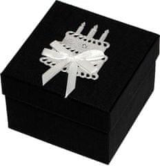 Giftisimo Luxus ajándékdoboz ezüst színű tortával díszítve