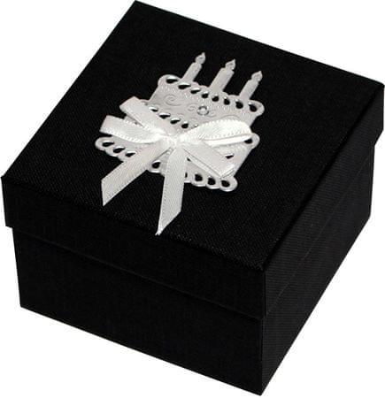 Giftisimo Luxusní dárková krabička se stříbrným dortem