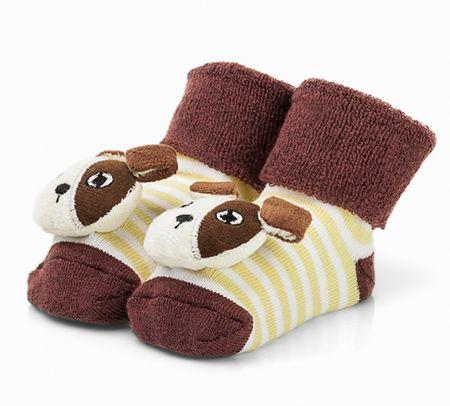 Attractive chlapčenské ponožky so psíkom 19 hnedá