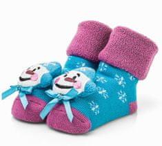 Attractive dievčenské ponožky so snehuliakom