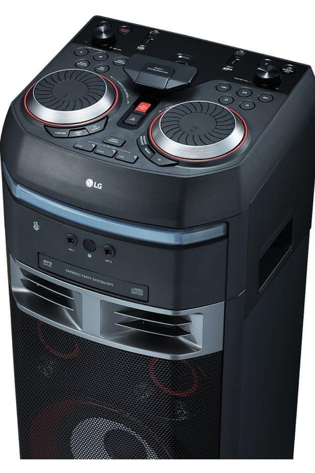LG OK 75 hangszóró scracheléssel is irányítható