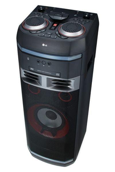 LG OK75 hordozható hangszóró karaoke hang eltorzítás buli