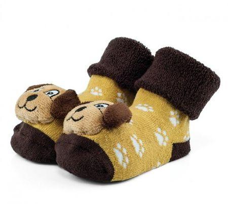 Attractive chlapčenské ponožky so psíkom 17 hnedá