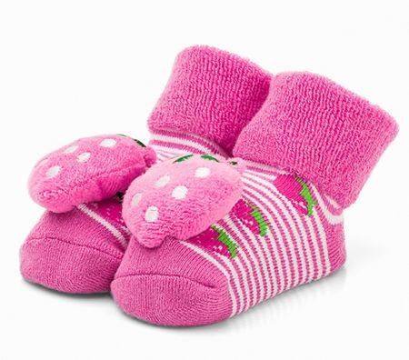 Attractive dievčenské ponožky s jahôdkou 19 ružová