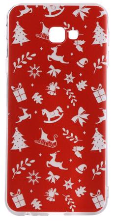 EPICO Rugalmas műanyag tok Samsung Galaxy J4+ telefonra RED XMAS