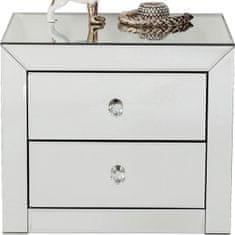 KARE Noční stolek Luxury se dvěma zásuvkami