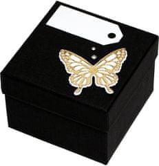 Giftisimo Luxus ajándékdoboz arany színű pillangóval díszítve