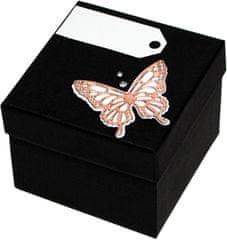Giftisimo Luxus ajándékdoboz bronz színű pillangóval díszítve